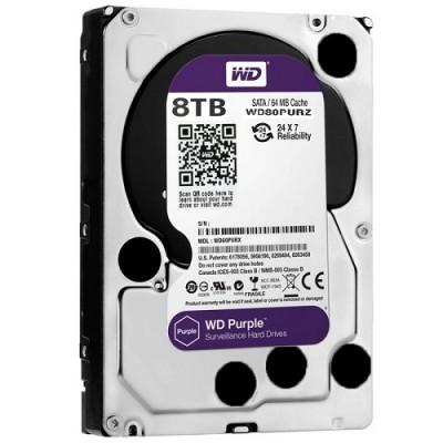 HDD WESTERN PURPLE 8TB WD80PURZ